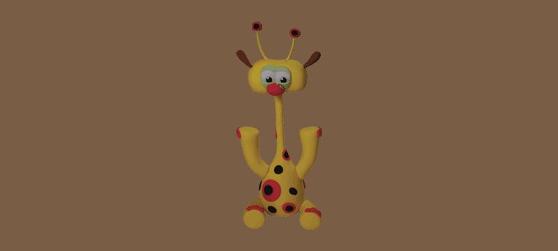 Giraffe From BabyTV – Fondant Cake Topper