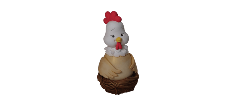 Chicken in a Nest – Fondant Cake Topper Tutorial