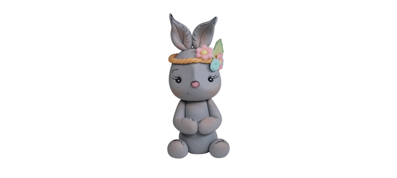 Cute Rabbit – Fondant Cake Topper Tutorial