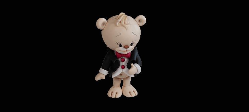 Wedding Teddy bear – Fondant Cake Topper Tutorial